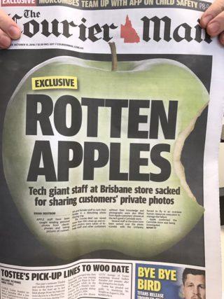 pommes pourries 320x427 Apple Store : des employés pervers volent les photos nues