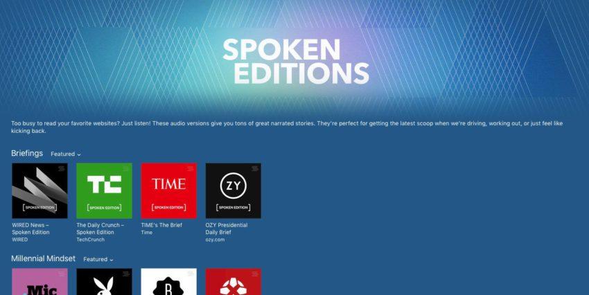 spoken editions e1475574311343 iTunes : les Spoken Editions sont officiellement disponibles
