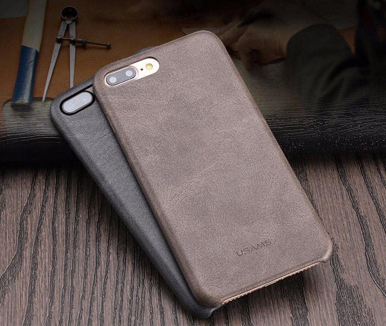 1 2 Coque en cuir pour iPhone 7 et 7 Plus (ShopSystem)