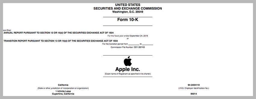 10k apple Apple ne révèlera plus le montant de ses dépenses publicitaires