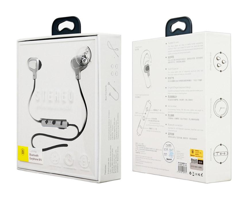 13 B15 : Écouteurs bluetooth intra auriculaires stéréo avec micro intégré