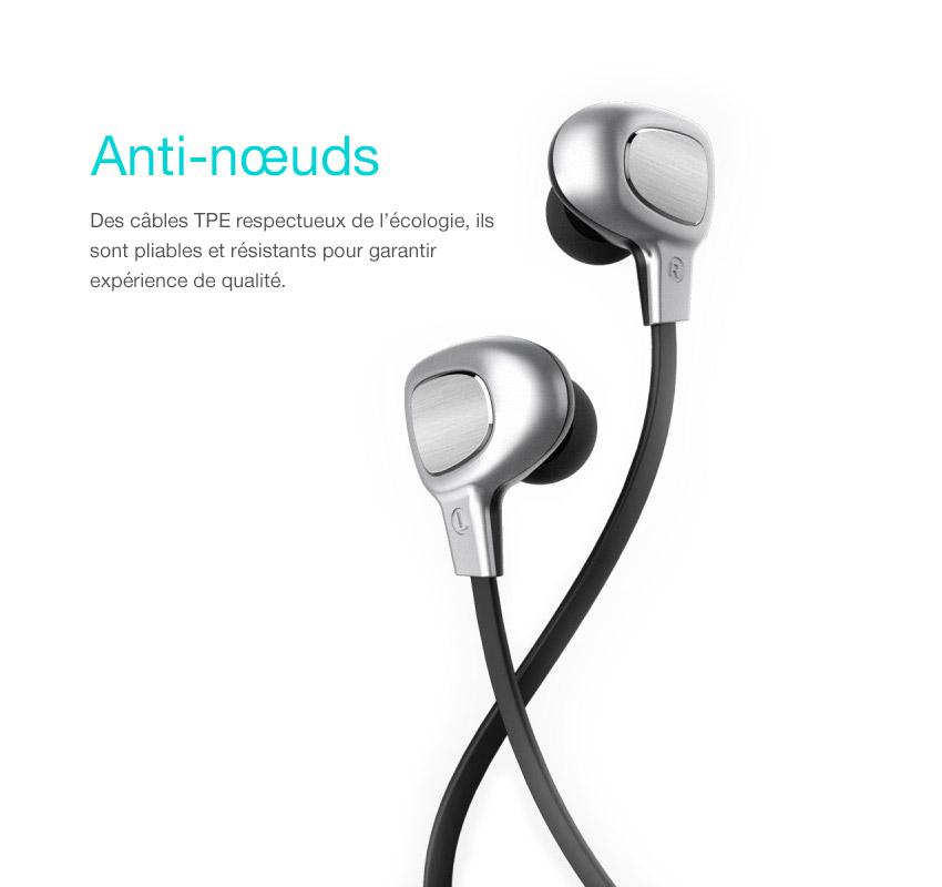 3 3 B15 : Écouteurs bluetooth intra auriculaires stéréo avec micro intégré