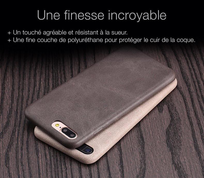 4 Coque en cuir pour iPhone 7 et 7 Plus (ShopSystem)