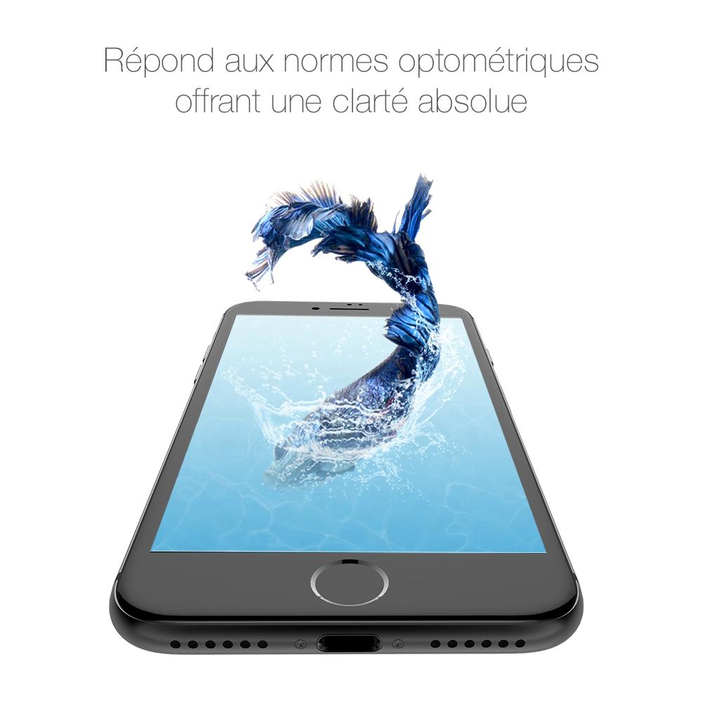 4 Protection décran iPhone 7 / 7 Plus intégrale 3D incurvée (ShopSystem)