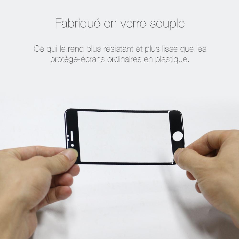 5 3 Protection décran iPhone 7 / 7 Plus intégrale 3D incurvée (ShopSystem)