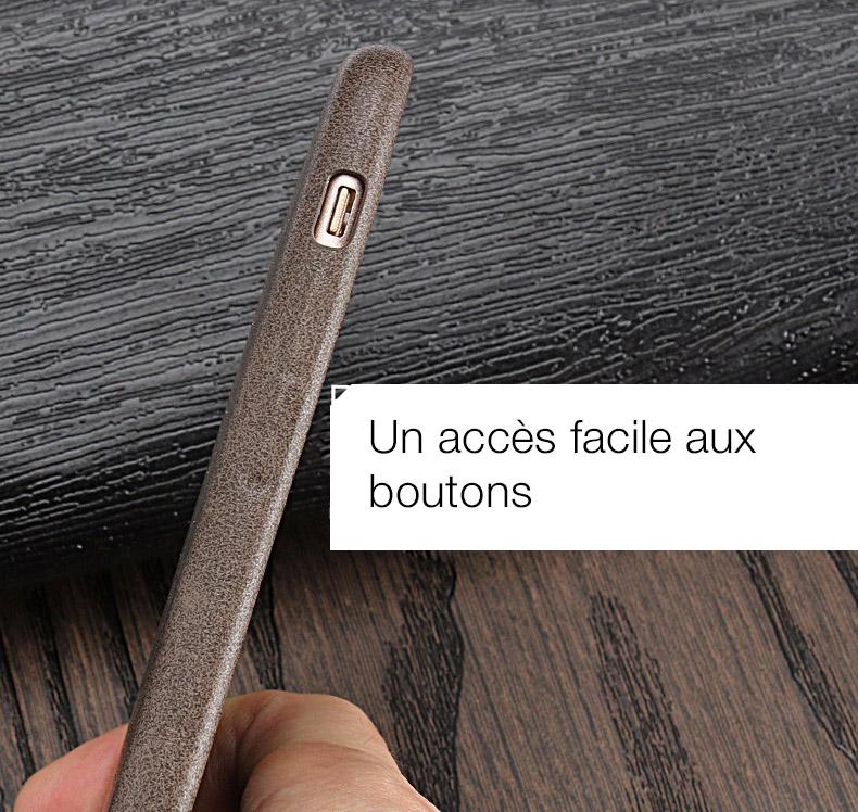5 Coque en cuir pour iPhone 7 et 7 Plus (ShopSystem)
