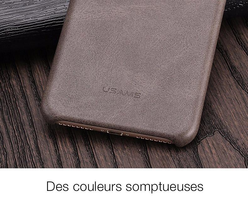 6 1 Coque en cuir pour iPhone 7 et 7 Plus (ShopSystem)