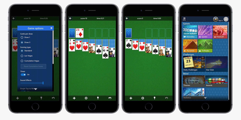 Solitaire Le célèbre Solitaire de Microsoft disponible sur iPhone et iPad