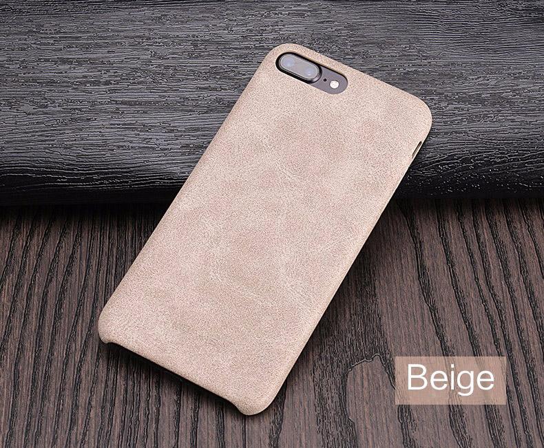 beige Coque en cuir pour iPhone 7 et 7 Plus (ShopSystem)