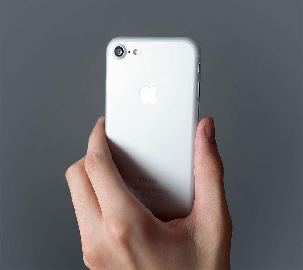 blanc Coque iPhone 7 et 7 Plus : Nouvelle génération 0.35mm ultra fine