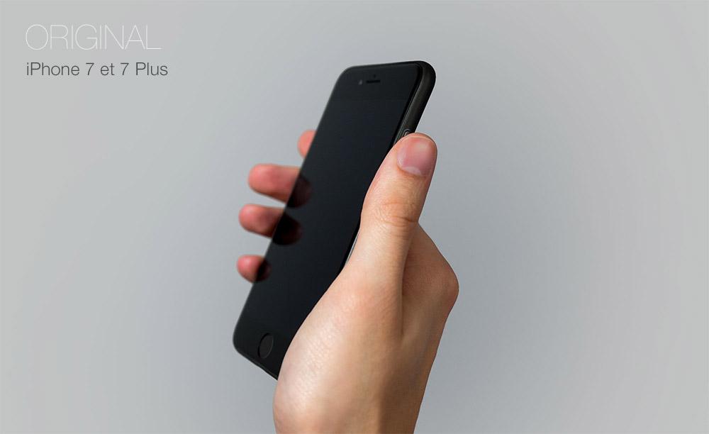 iPhone 7 Black cover Coque iPhone 7 et 7 Plus : Nouvelle génération 0.35mm ultra fine
