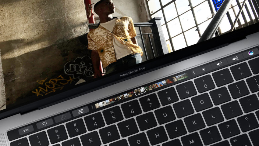 touch bar 1 e1478858478574 MacBook Pro : Apple explique comment effacer les données de la Touch Bar en cas de vente