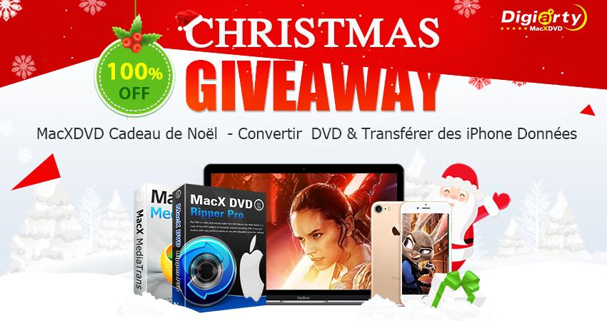 Christmas giveaway MacX DVD Ripper Pro : le meilleur DVD Ripper pour Mac, iPhone ou iPad