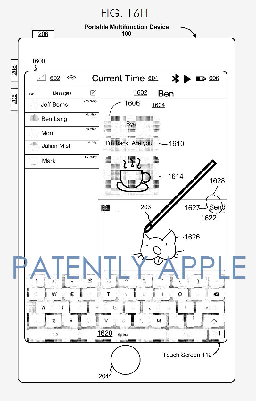 brevet apple pencil 2 Brevet : une possible compatibilité entre lApple Pencil et liPhone