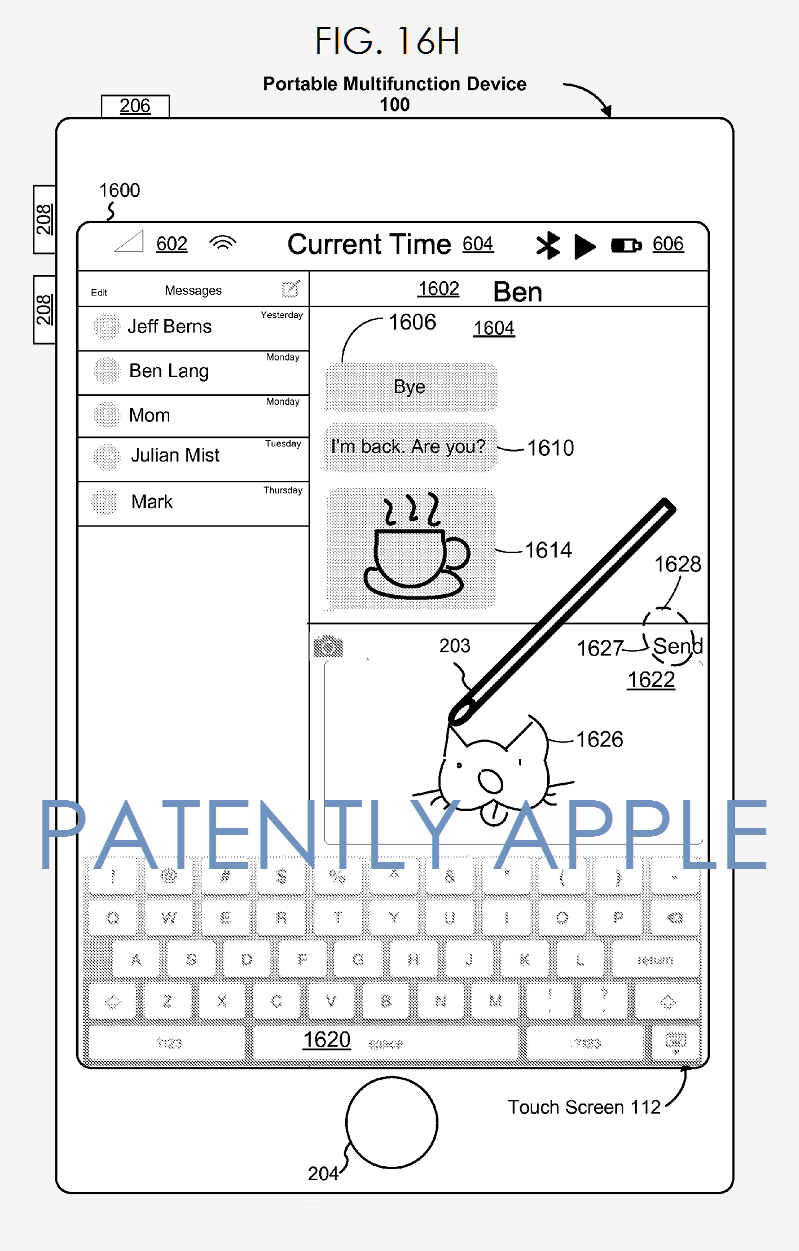 brevet apple pencil 2 Brevet : une possible compatibilité entre lApple Pencil et liPhone