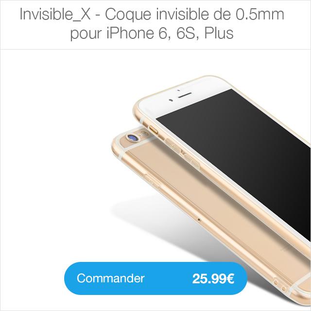 invisible X i6 Coque iPhone 7 Noir de Jais avec protection décran (29.99€ au lieu de 39.99€)