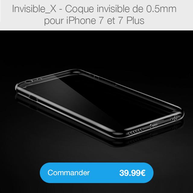 invisible X i7 Coque iPhone 7 Noir de Jais avec protection décran (29.99€ au lieu de 39.99€)