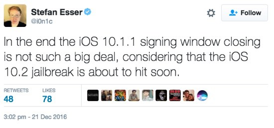 ionic jailbreak ios 10 2 Le jailbreak iOS 10.2 arrive bientôt daprès @i0n1c