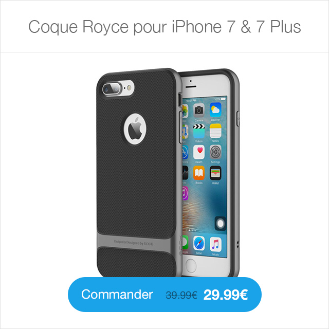 royce i7 ShpS Sky Clear : Coque iPhone 7 & 7 Plus, super fine avec protection décran