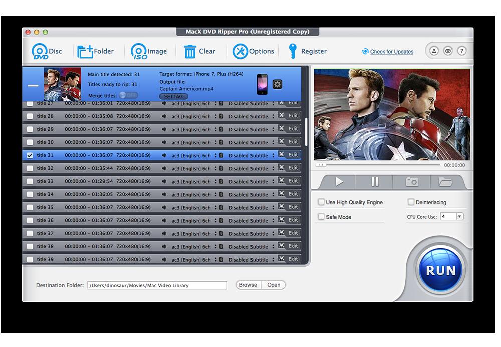 shot1 MacX DVD Ripper Pro : le meilleur DVD Ripper pour Mac, iPhone ou iPad