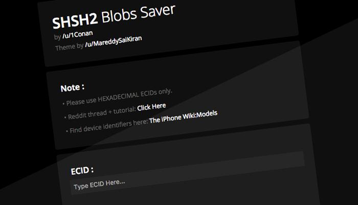 shsh2 blobs auto tsschecker 700x400 AppSystem   Actu, astuces et tuto iPhone 7, 6s, iPad et Apple Watch