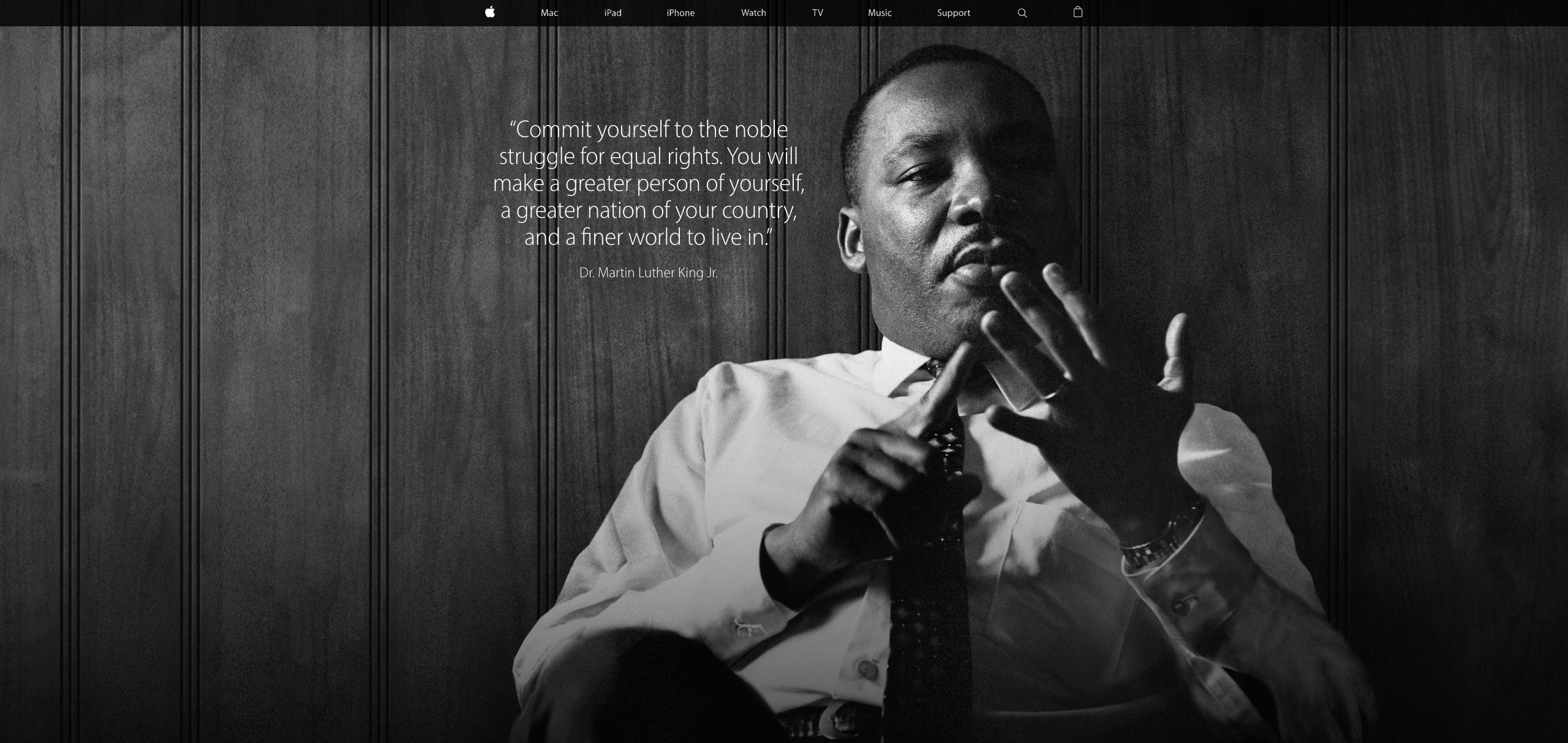 apple store us matin luther king Apple rend hommage à Martin Luther King sur lApple Store US