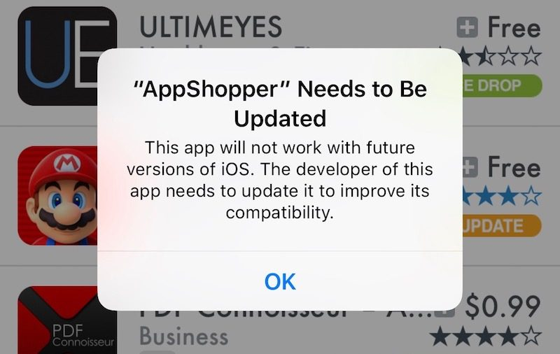 apps 32 bits Apps 32 bits : pas de compatibilité avec les prochaines versions diOS