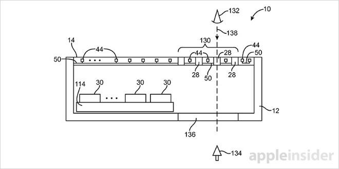 brevet ecran tous 3 iPhone 8 : un brevet pour des composants sous lécran