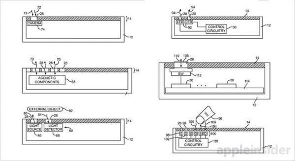 brevet ecran trous 1 iPhone 8 : un brevet pour des composants sous lécran
