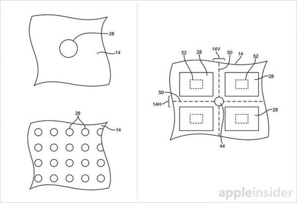 brevet ecran trous 2 iPhone 8 : un brevet pour des composants sous lécran