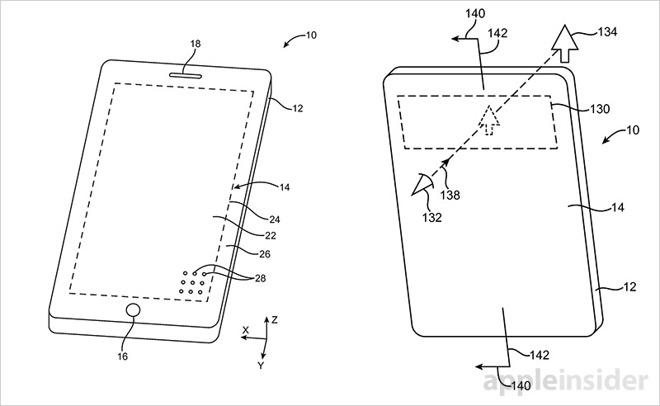 brevet ecran trous 4 iPhone 8 : un brevet pour des composants sous lécran