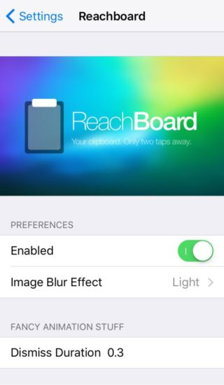 reachboard 320x549 [Cydia] ReachBoard : le presse papier dans Reachability