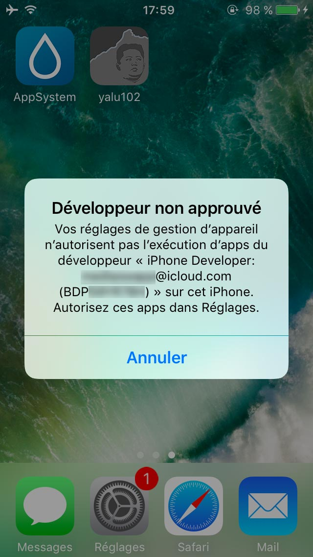 yalu jailbreak 2 Tutoriel Jailbreak iOS 10.2 avec loutil Yalu de Luca Todesco
