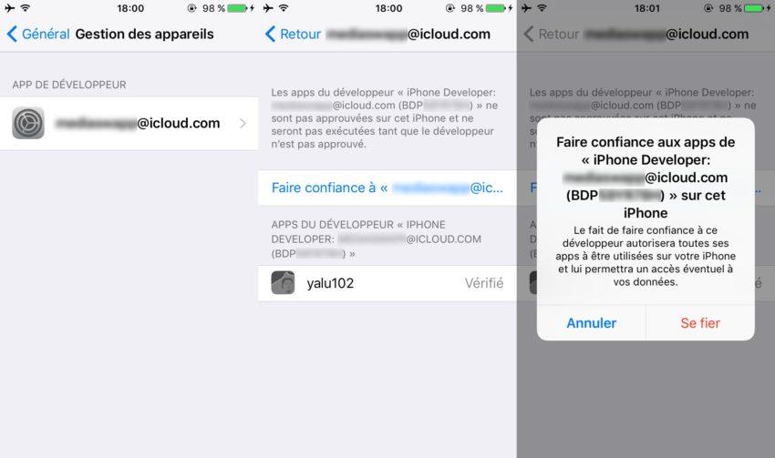 yalu jailbreak 4 Tutoriel Jailbreak iOS 10.2 avec loutil Yalu de Luca Todesco