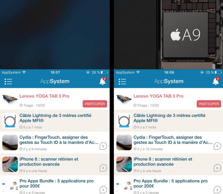CRSettings comparaison 850x742 Cydia : CRSettings, ajouter un fond décran à la vue Accès facile de votre iPhone