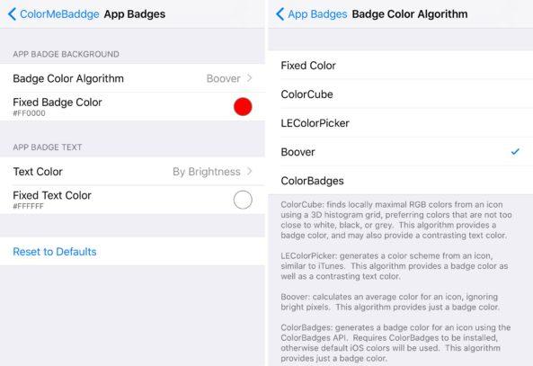 ColorMeBadge Reglages Cydia : ColorMeBaddge, changer la couleur des badges de notification