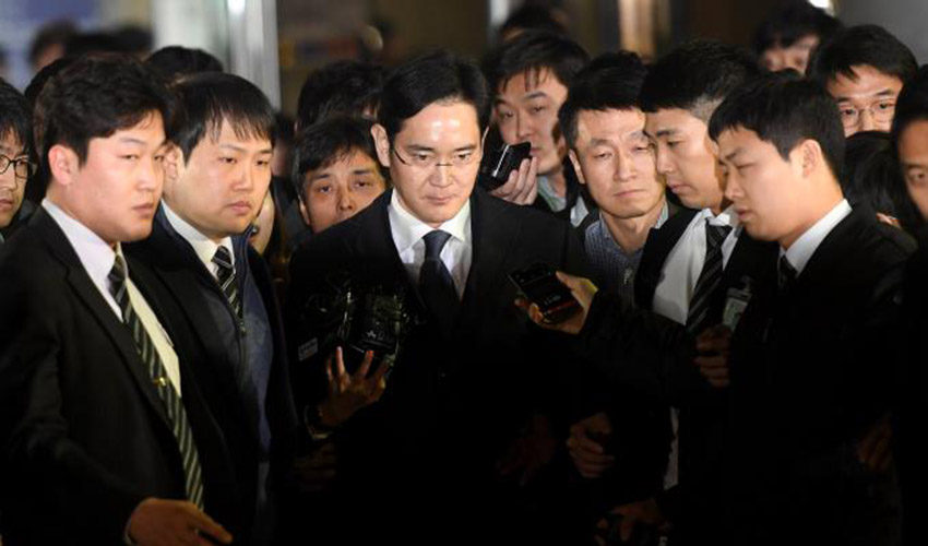 Lee Jae yong arrete 850x500 Lee Jae yong, lhéritier de Samsung arrêté pour corruption