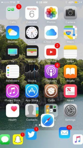 harbor10 320x569 Cydia : Harbor, un dock identique à macOS sur iOS