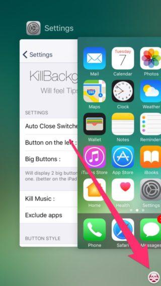 killbackground10 2 320x568 KillBackground10 : supprimer toutes les apps de votre multitâche en un seul geste
