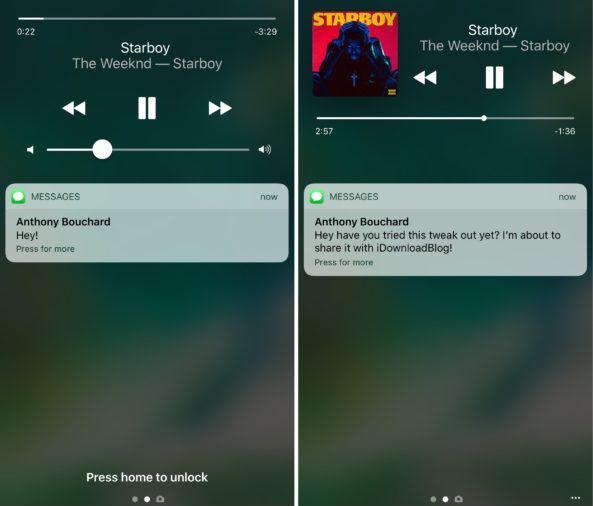 Lockmusic tweak 3 Cydia : LockMusic, réorganiser le contrôle de la musique sur le Lockscreen