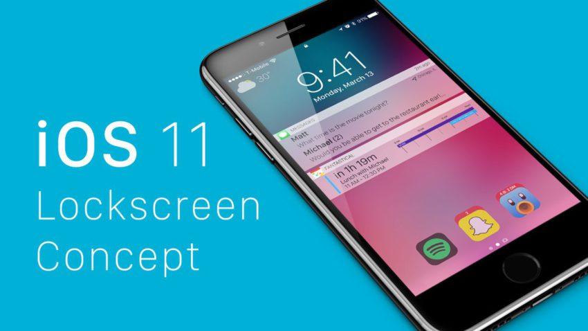 concept lockscreen ios 11 Un concept du Lockscreen diOS 11 avec des idées séduisantes