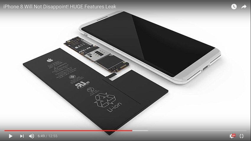 iphone 8 leak 850x478 [Vidéo] iPhone 8 : les nouvelles fonctionnalités expliquées en images