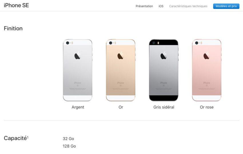 iphone se iPhone SE : capacités de stockage doublées, prix inchangé