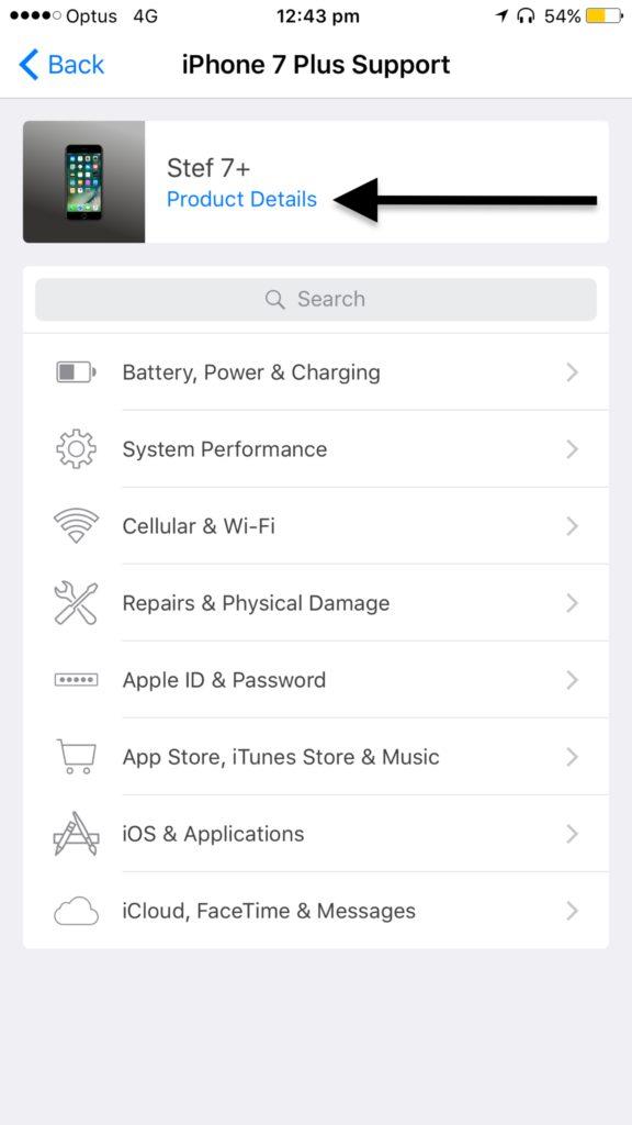 apple support app tutorial 2 warranty 576x1024 Astuce : comment vérifier si son iPhone, iPad ou Mac est encore sous garantie