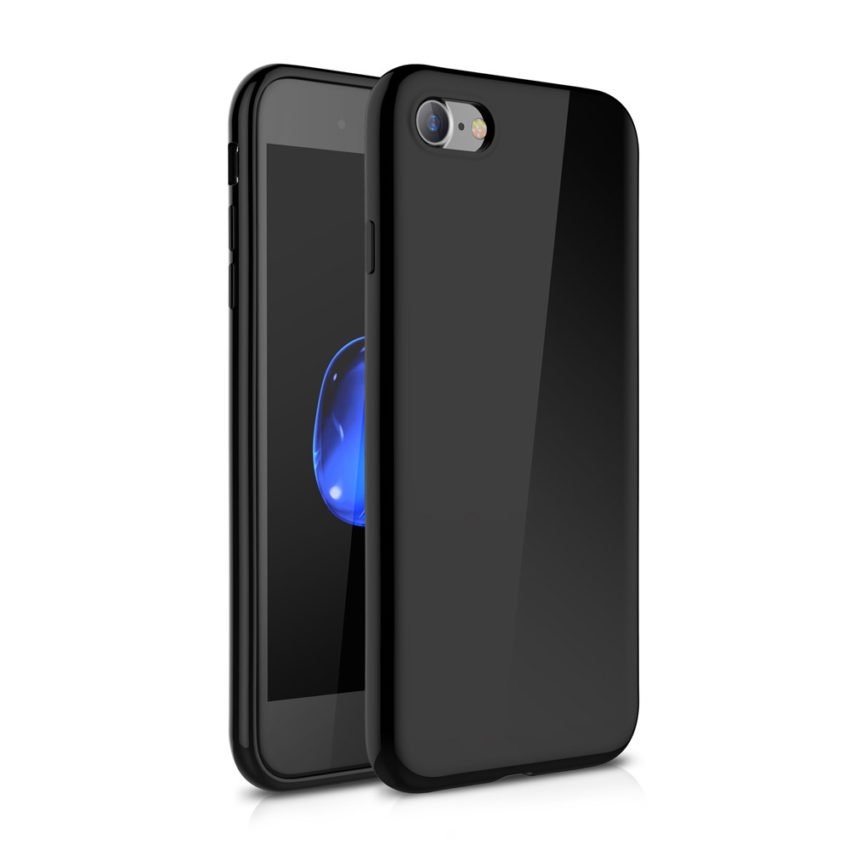 backfront Coque iPhone 7 Jet Black avec protection décran (en promo)