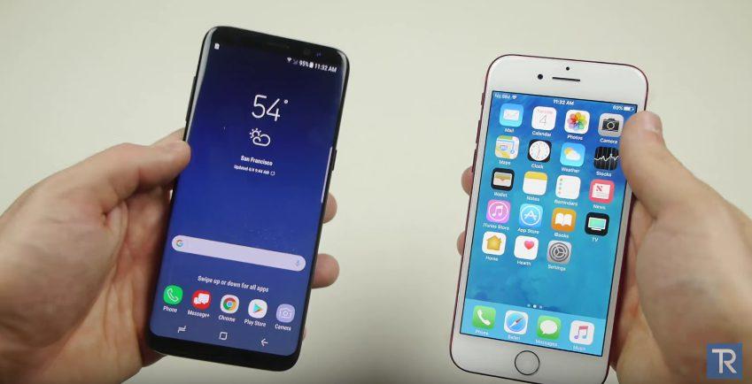 galaxy S8 iphone 8 iPhone 7 v. Galaxy S8 : test de résistance aux chutes (vidéo)