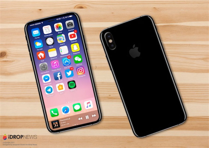 iphone 8 rendu 3d 5 iPhone 8 : Benjamin Geskin liste les nouveautés (nouvelle batterie, capteur 3D...)