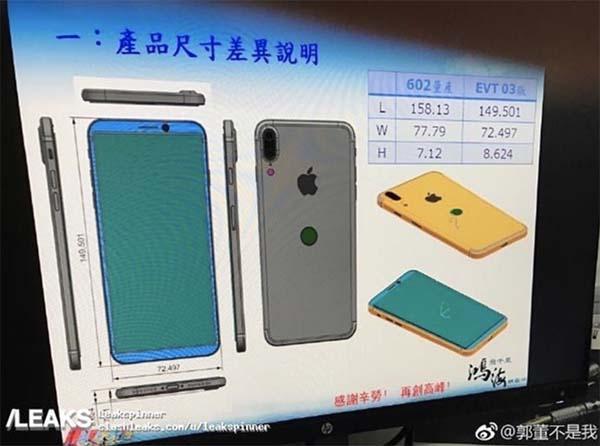 iphone 8 schema foxconn iPhone 8 : un schéma en fuite dévoilerait le design, Touch ID sur le dos et plus
