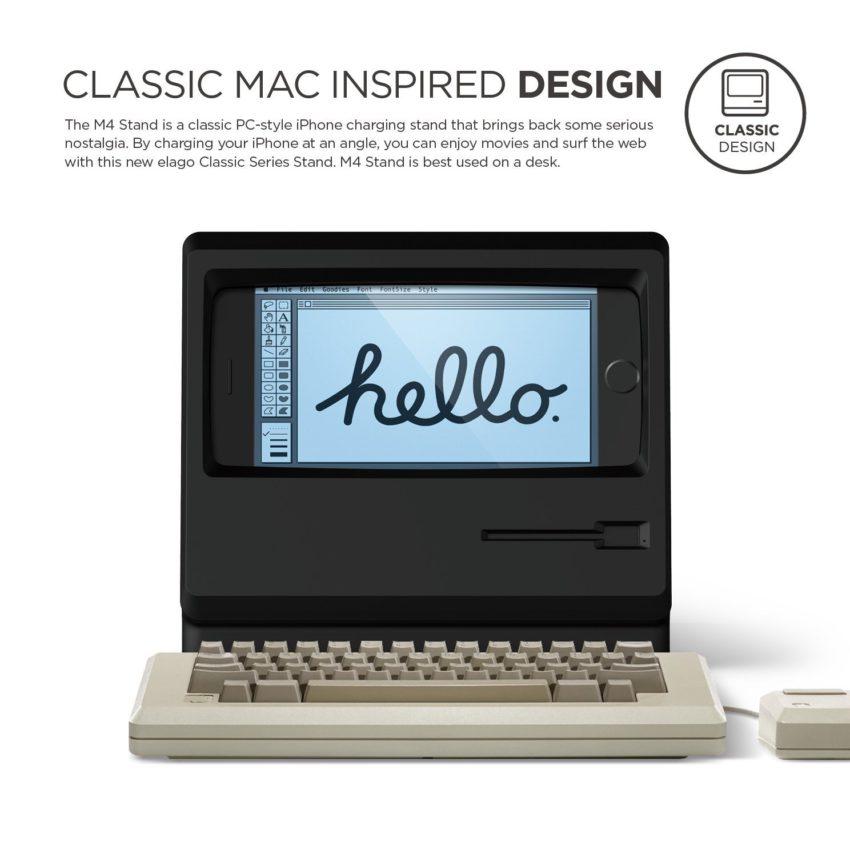 station iphone macintosh 2 Une station de recharge qui donne lapparence dun Macintosh à votre iPhone