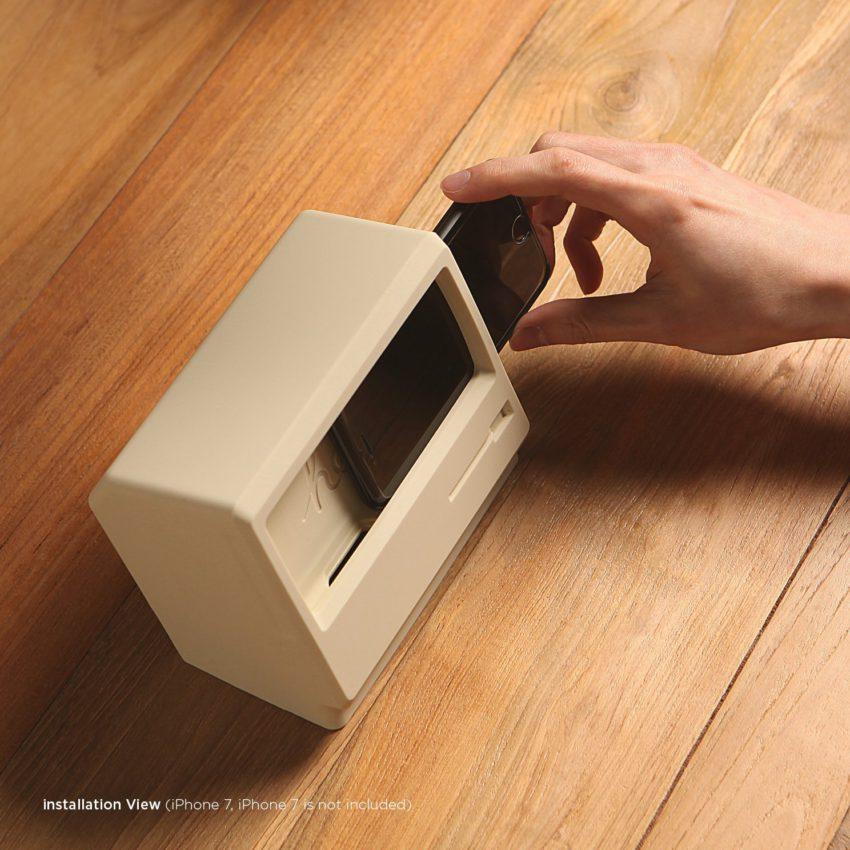 station iphone macintosh 3 Une station de recharge qui donne lapparence dun Macintosh à votre iPhone
